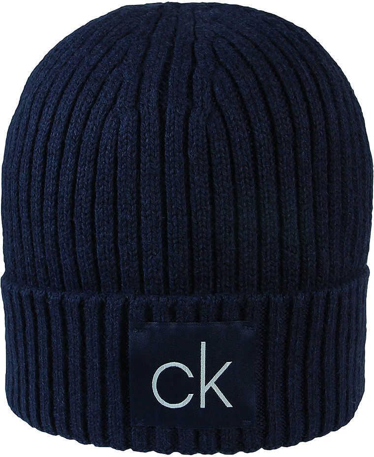 Calvin Klein Basic Rib Beanie - Czapka Męska Granatowy