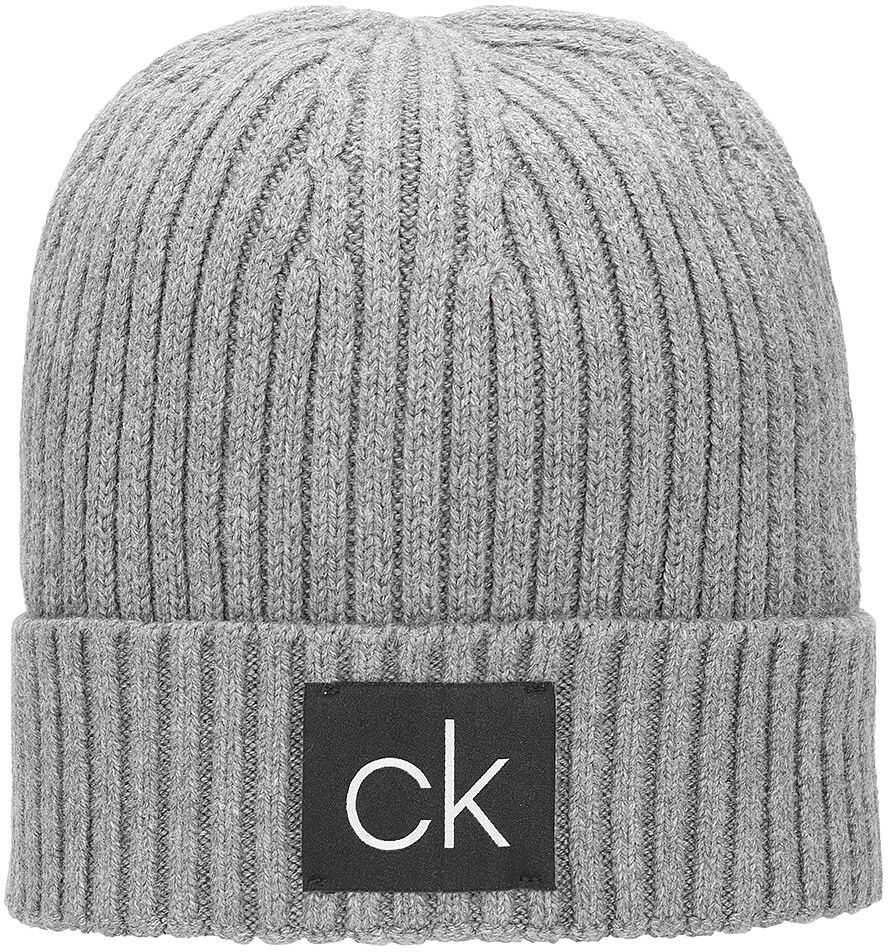 Calvin Klein Basic Rib Beanie - Czapka Męska Szary