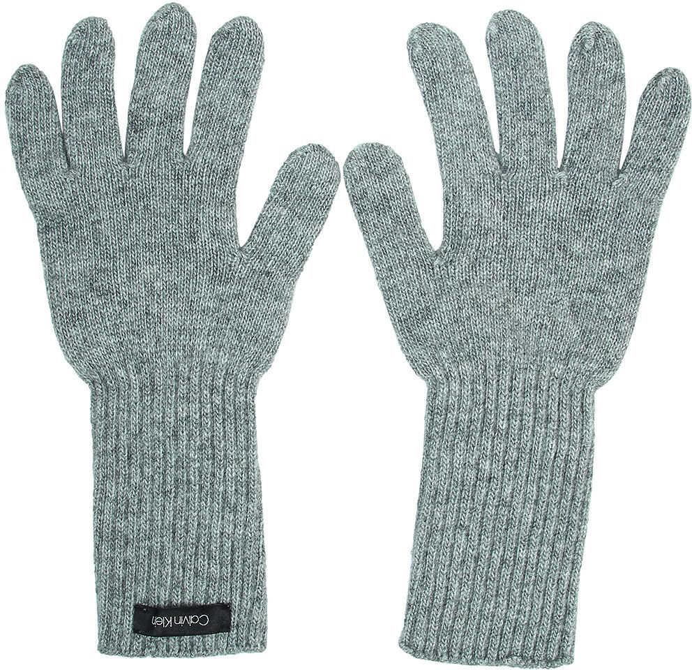 Calvin Klein Basic Knitted Gloves - Rękawiczki Szary