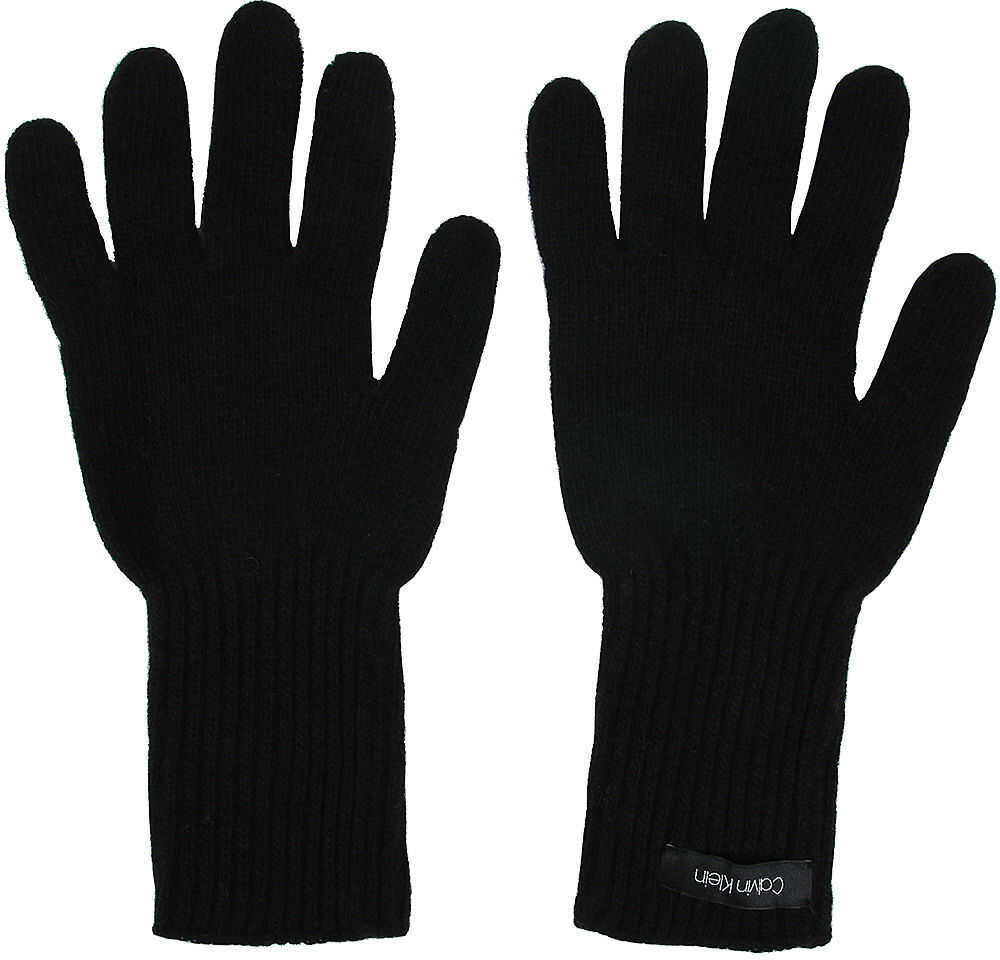 Calvin Klein Basic Knitted Gloves - Rękawiczki Czarny
