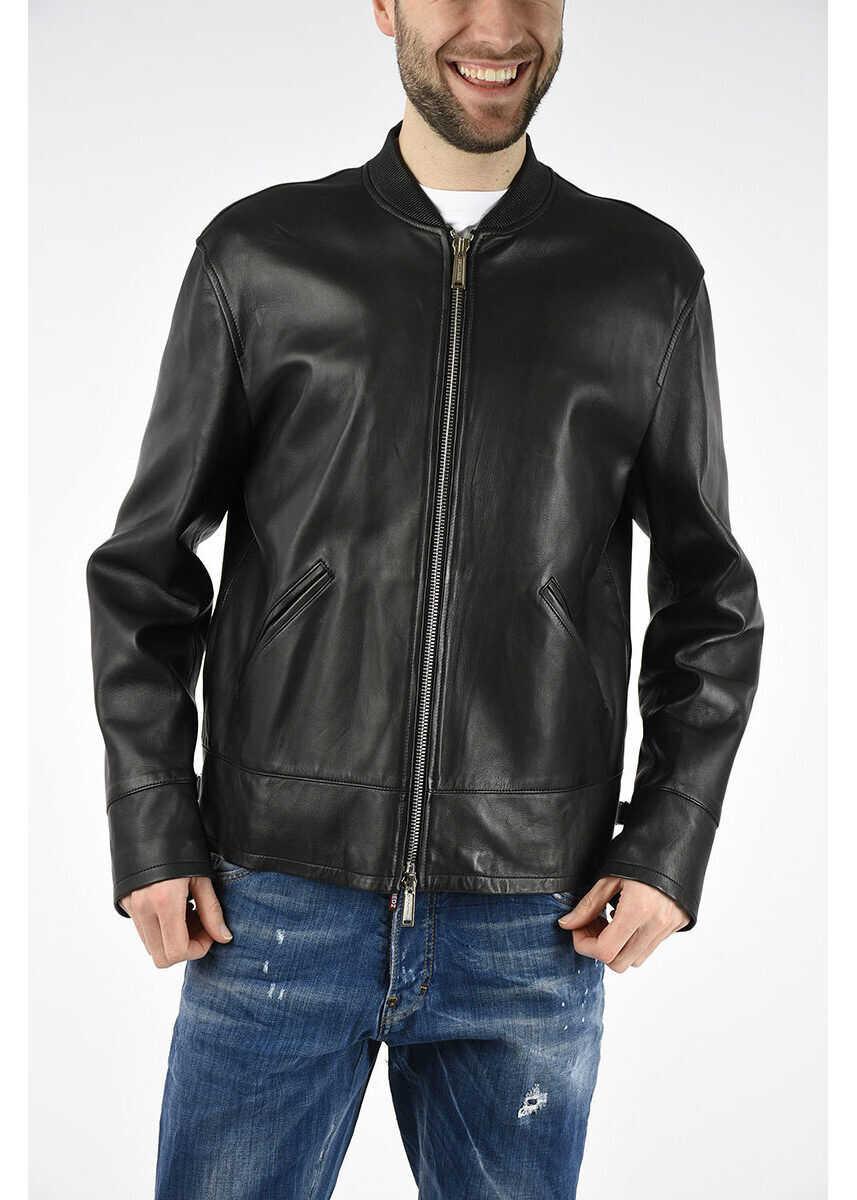 DSQUARED2 Leather Jacket BLACK