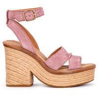 Sandale Sandalo Con Tacco Ugg Carine In Pelle Scamosciata Rosa Femei