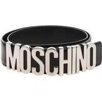 Curele Moschino Black Belt With Logo Femei