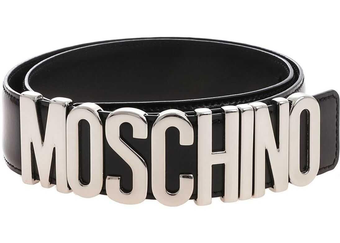 Moschino Moschino Black Belt With Logo Black