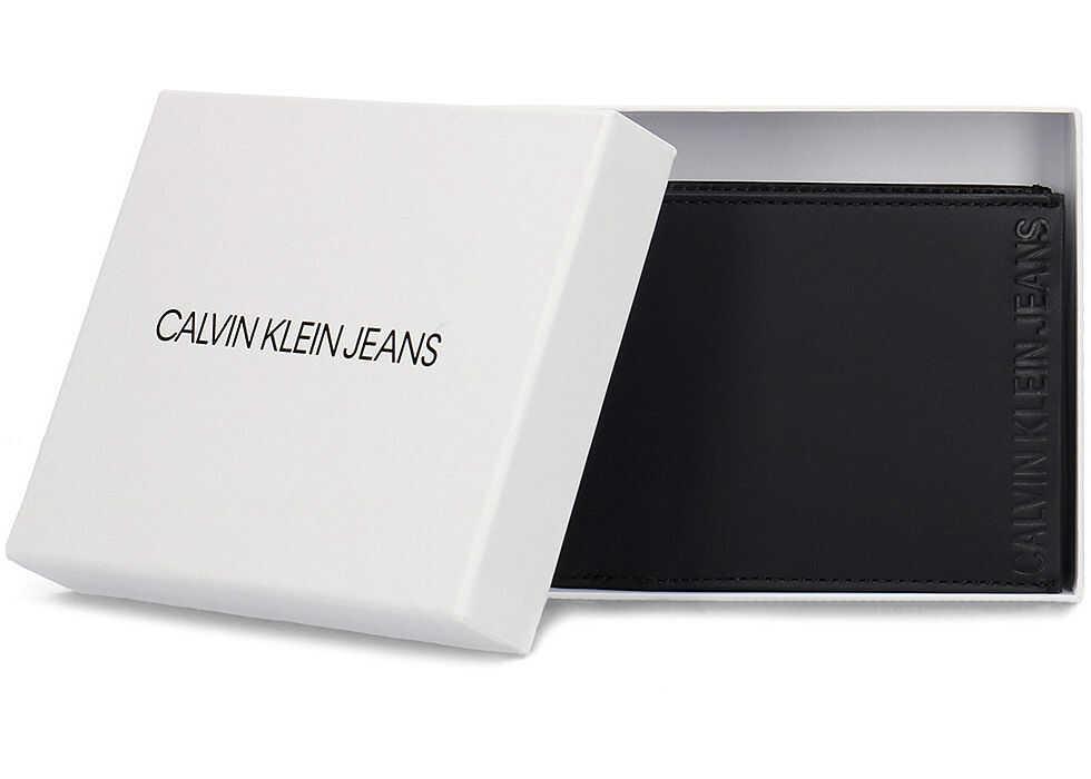 Calvin Klein Jeans Logo Pop Billfold Coin - Portfel Czarny