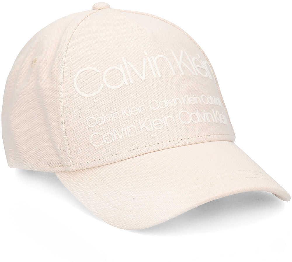 Calvin Klein Industrial Pique Baseball Cap - Czapka Męska Beżowy