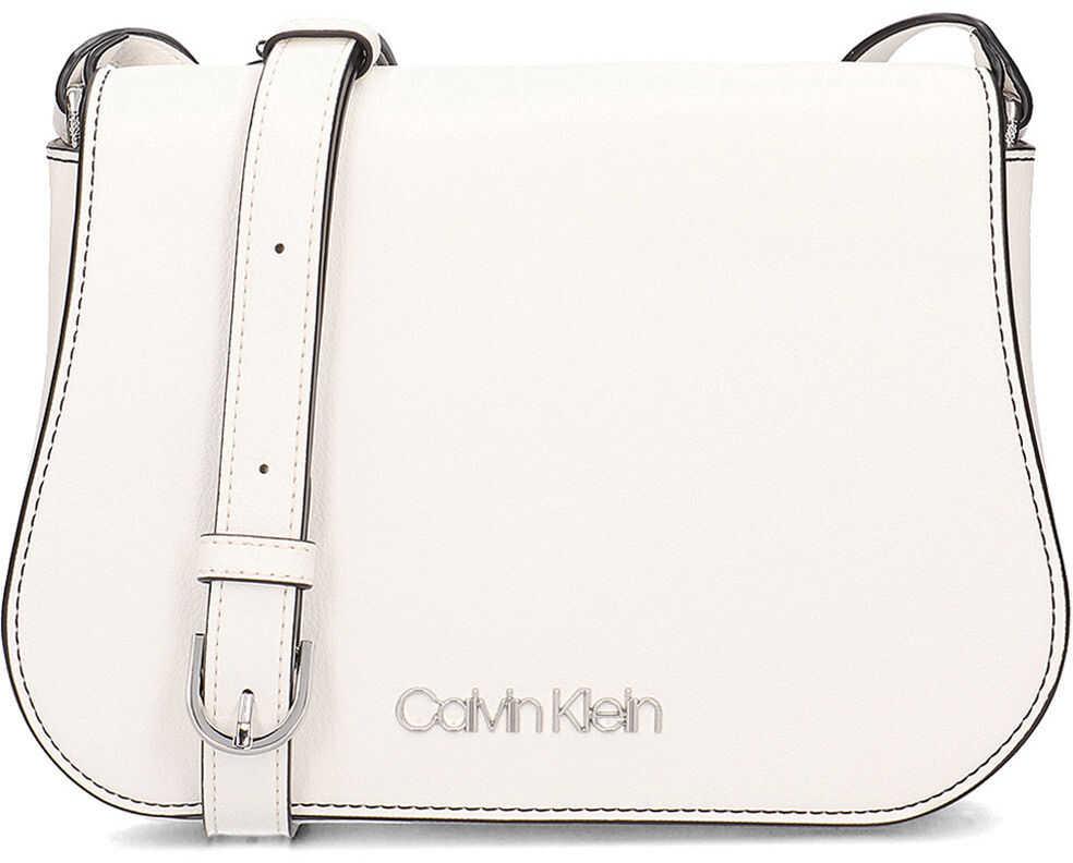 Calvin Klein Slide Saddle Bag Biały
