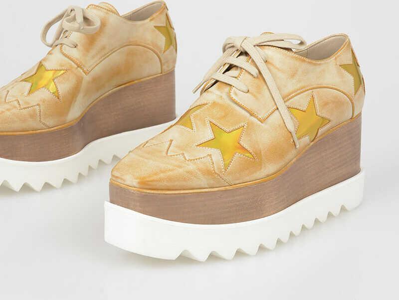 adidas by Stella McCartney Faux Leather Stars Derby Shoes N/A
