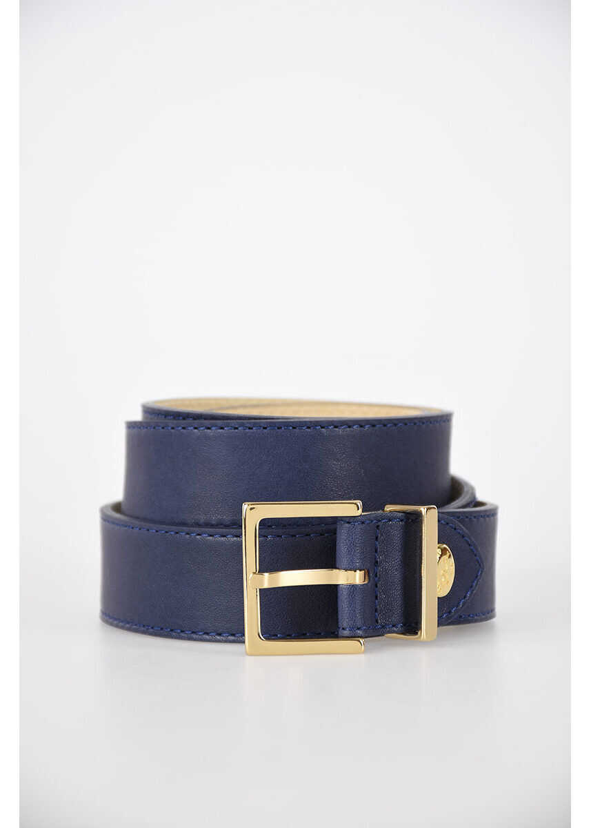 Longchamp 30mm Leather Belt BLUE