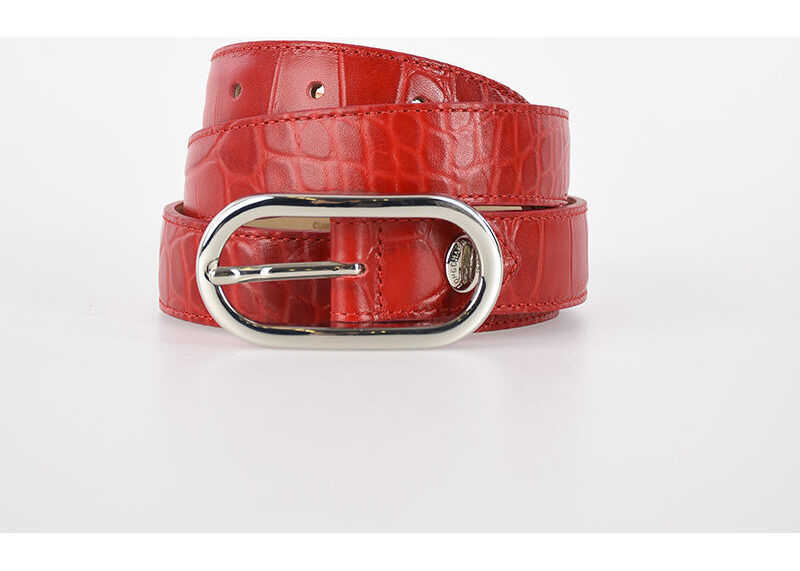 Longchamp 25mm Leather Belt RED