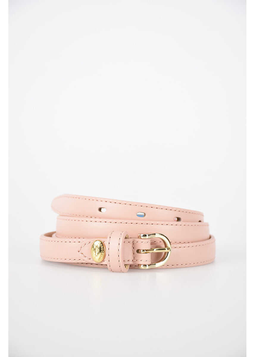 Longchamp 10mm Leather Belt PINK