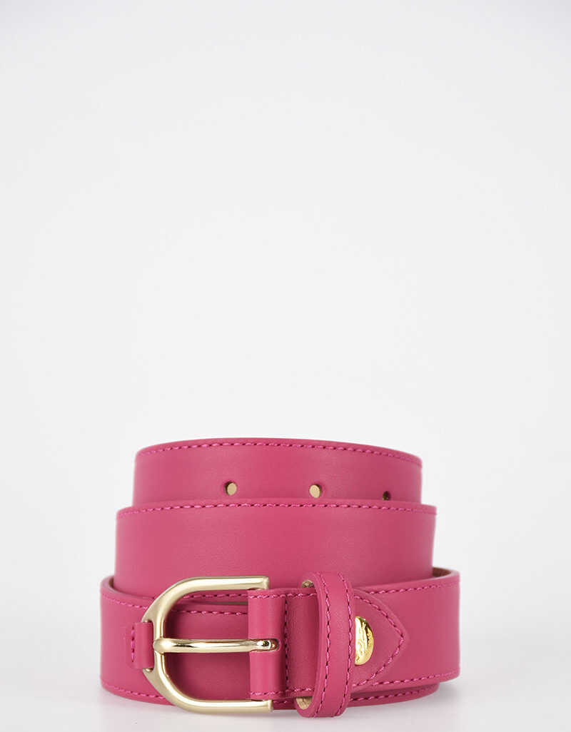 Longchamp 30mm Leather Belt PINK