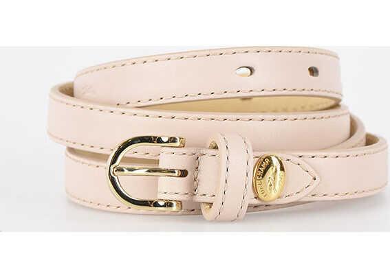 Longchamp 10mm Leather Belt BEIGE