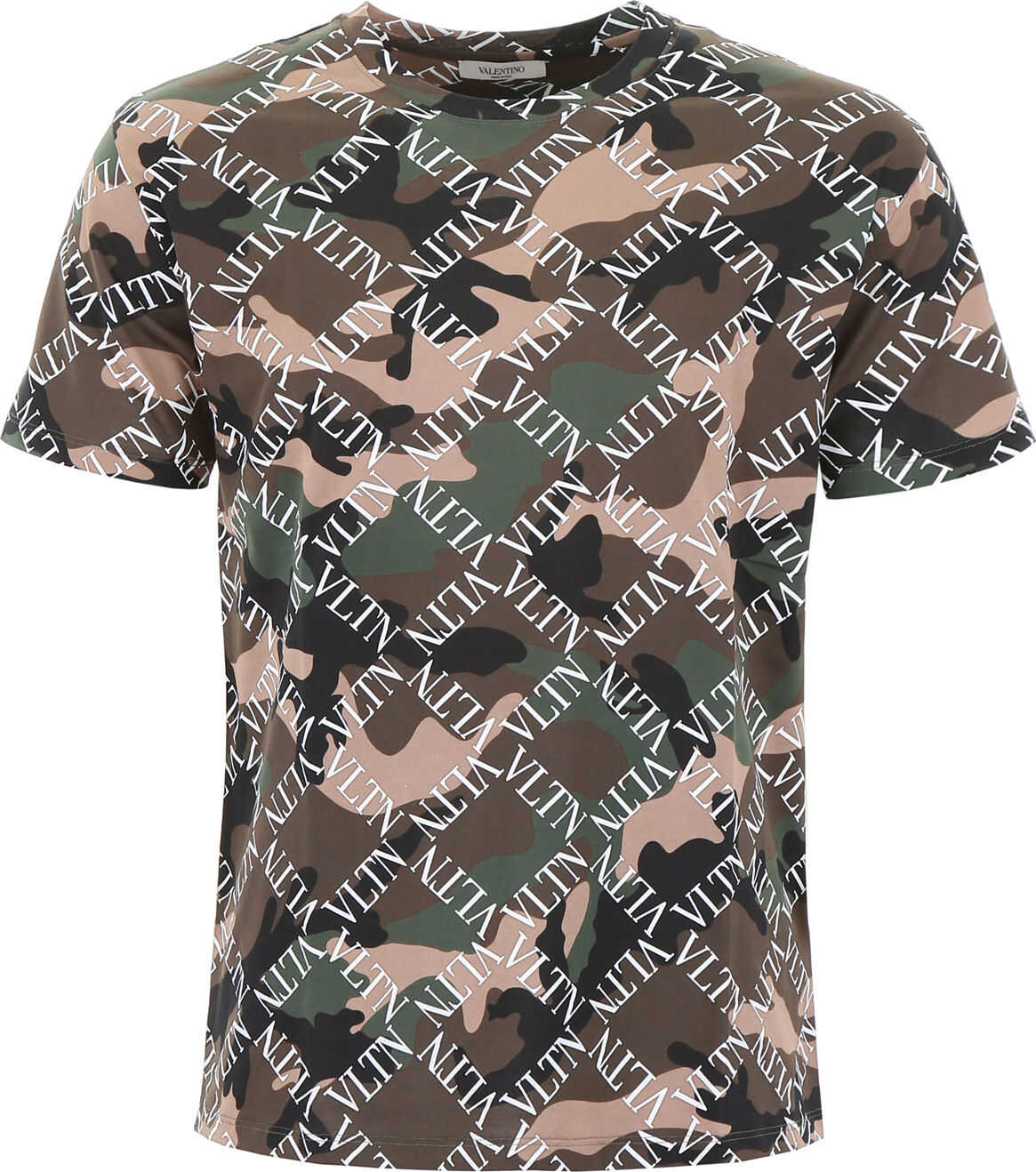 Camouflage T-Shirt With Logo