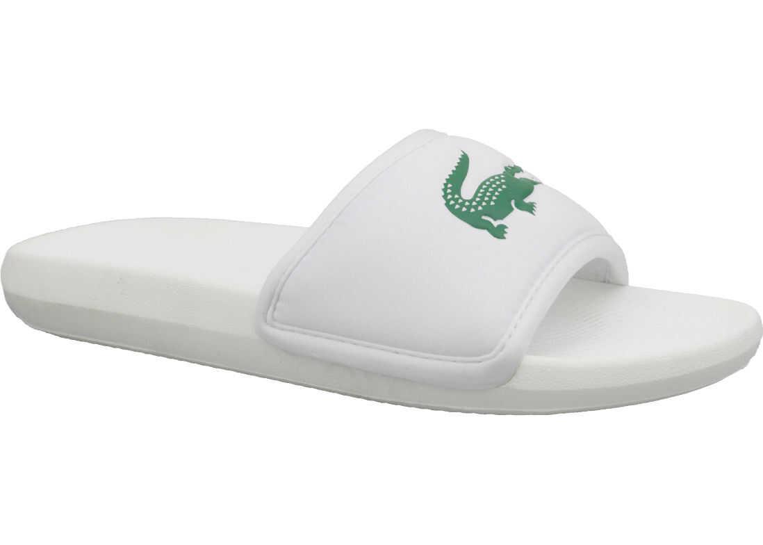 Lacoste Croco Slide 119 3 White imagine b-mall.ro