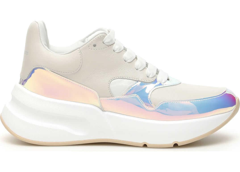 Alexander McQueen Oversized Runner Sneakers CREAM PINK WHITE