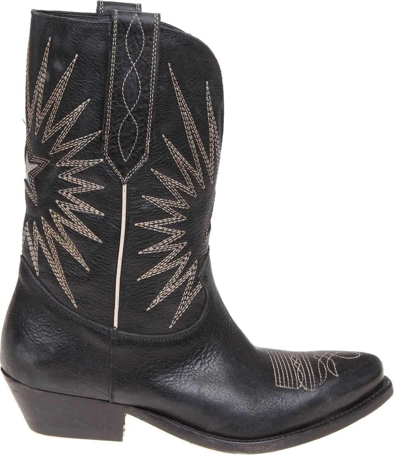 Golden Goose Black Wish Star Boots Black