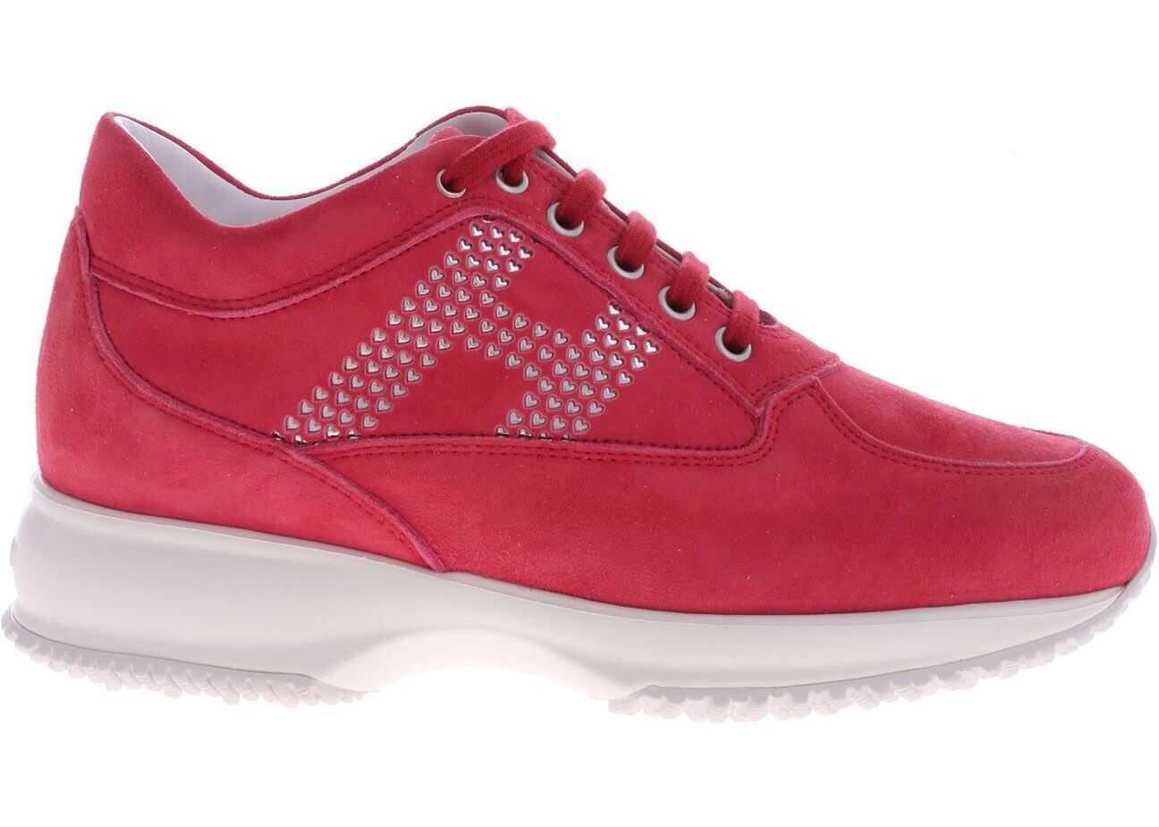 Hogan Interactive Sneakers In Fuchsia Suede Fuchsia