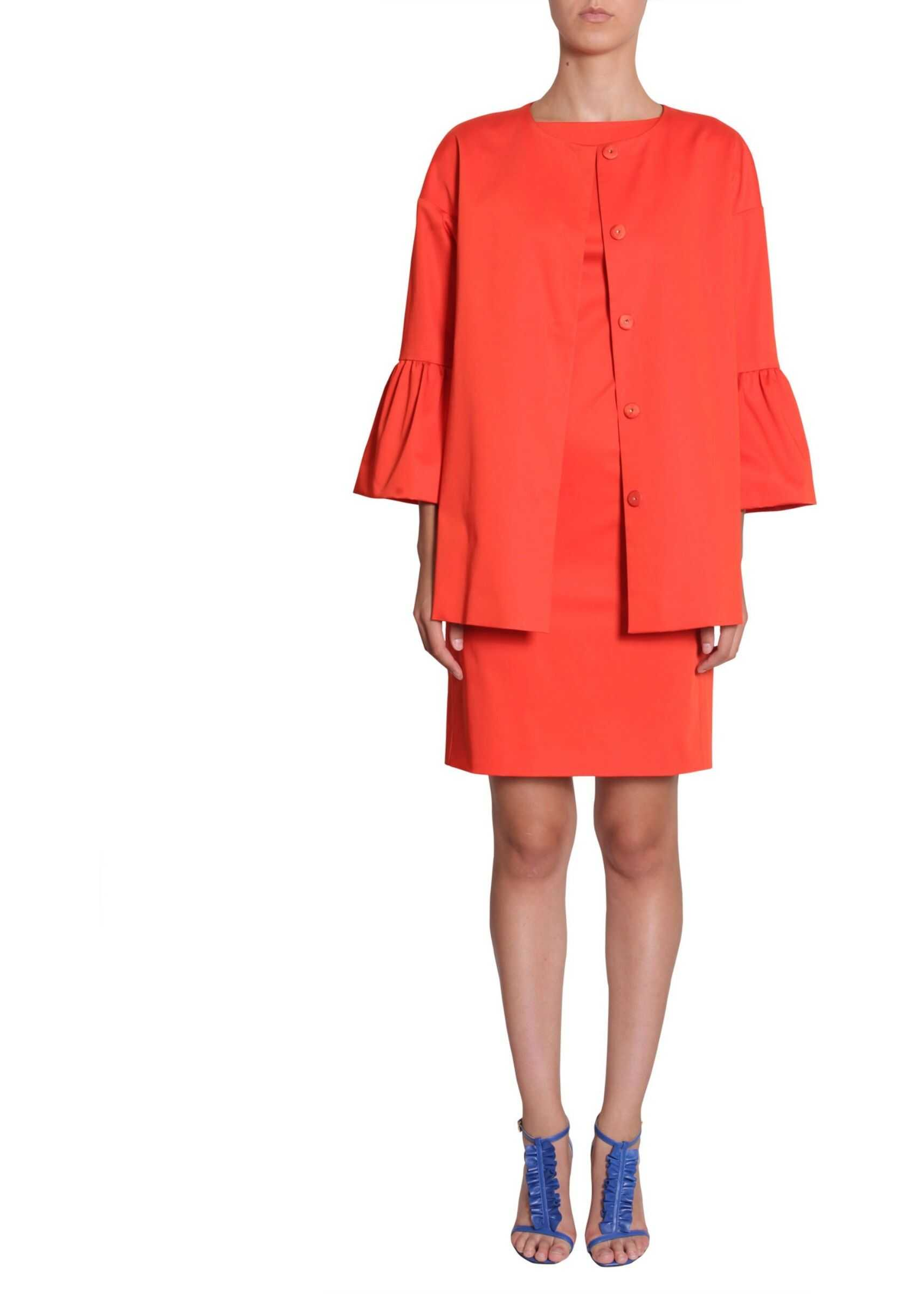 LOVE Moschino Stretch Satin Coat RED