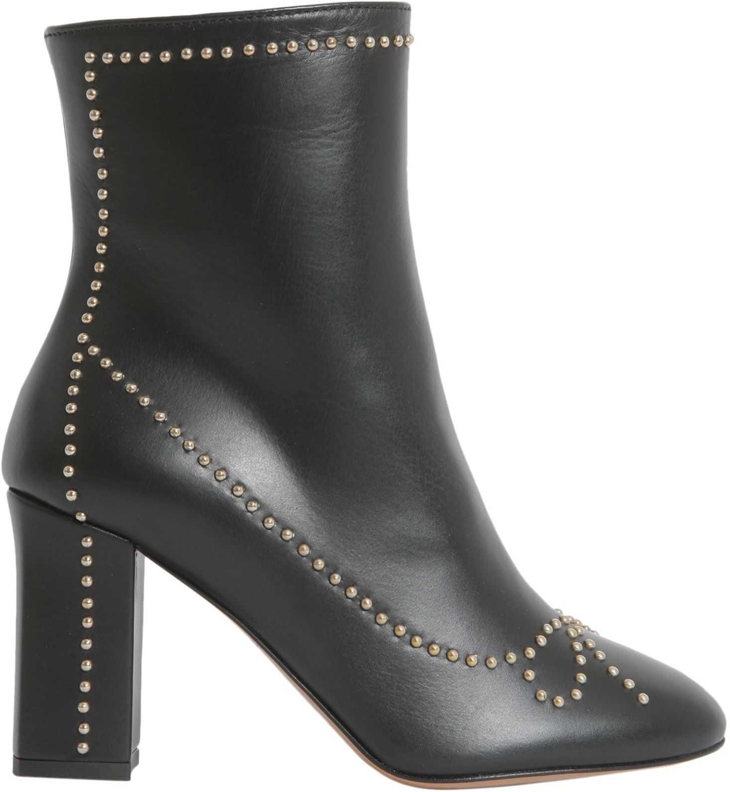 LOVE Moschino Studded Ankle Boots BLACK