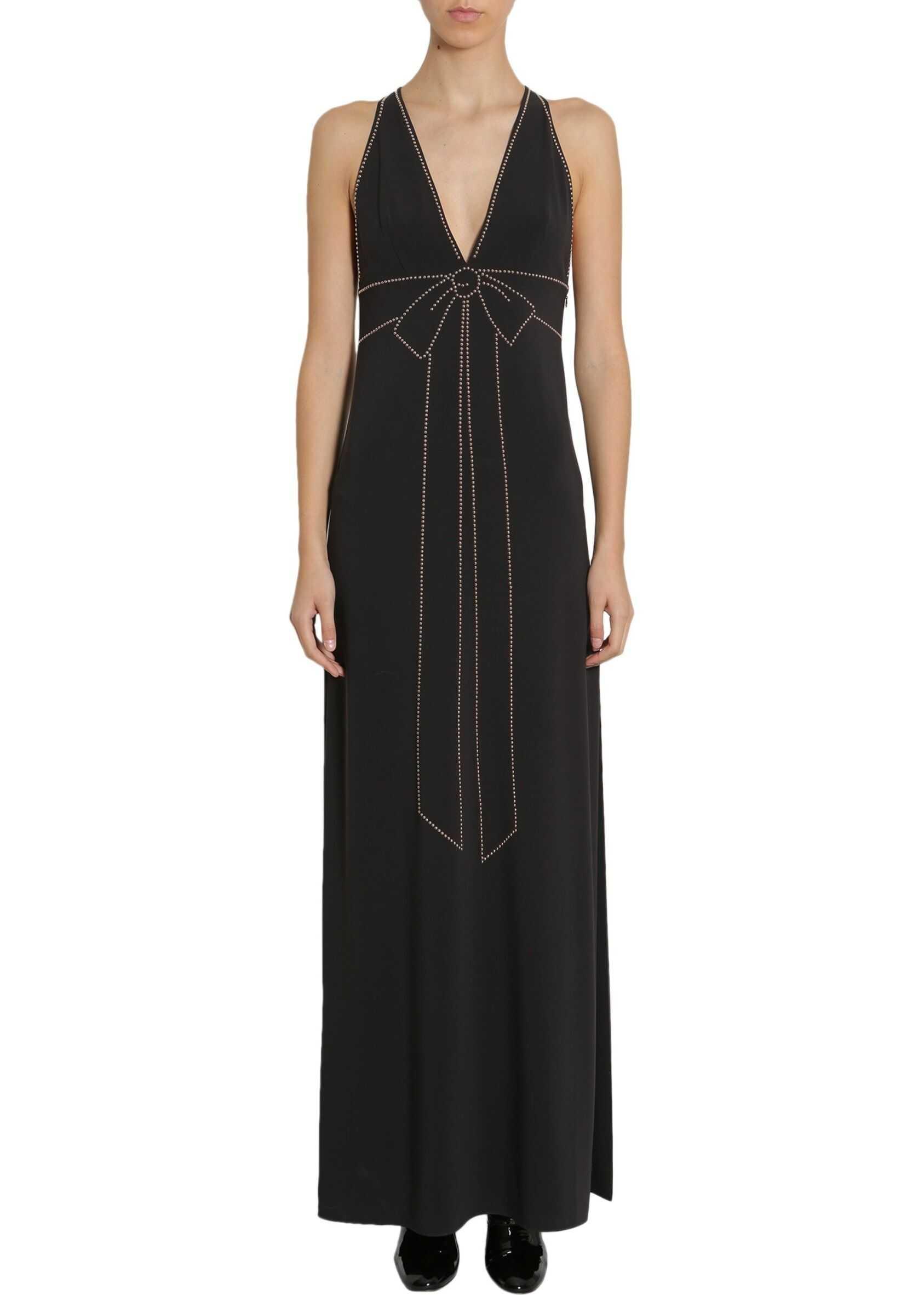 LOVE Moschino Long Cady Dress BLACK