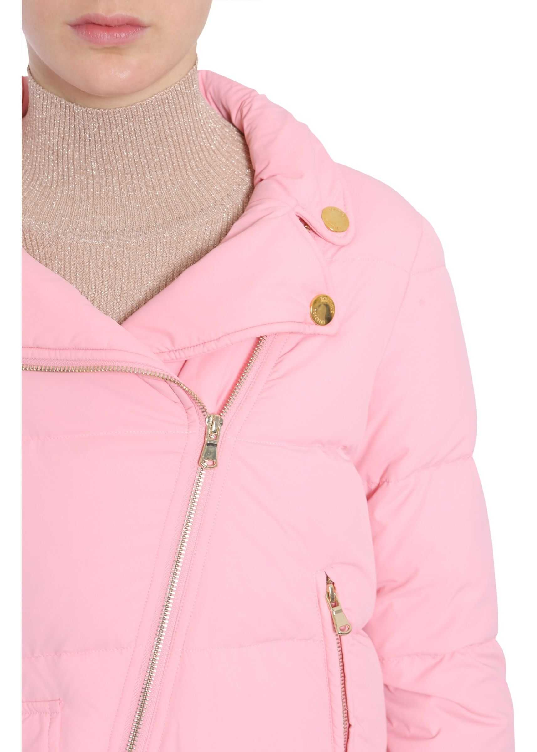 LOVE Moschino Quilted Down Jacket PINK