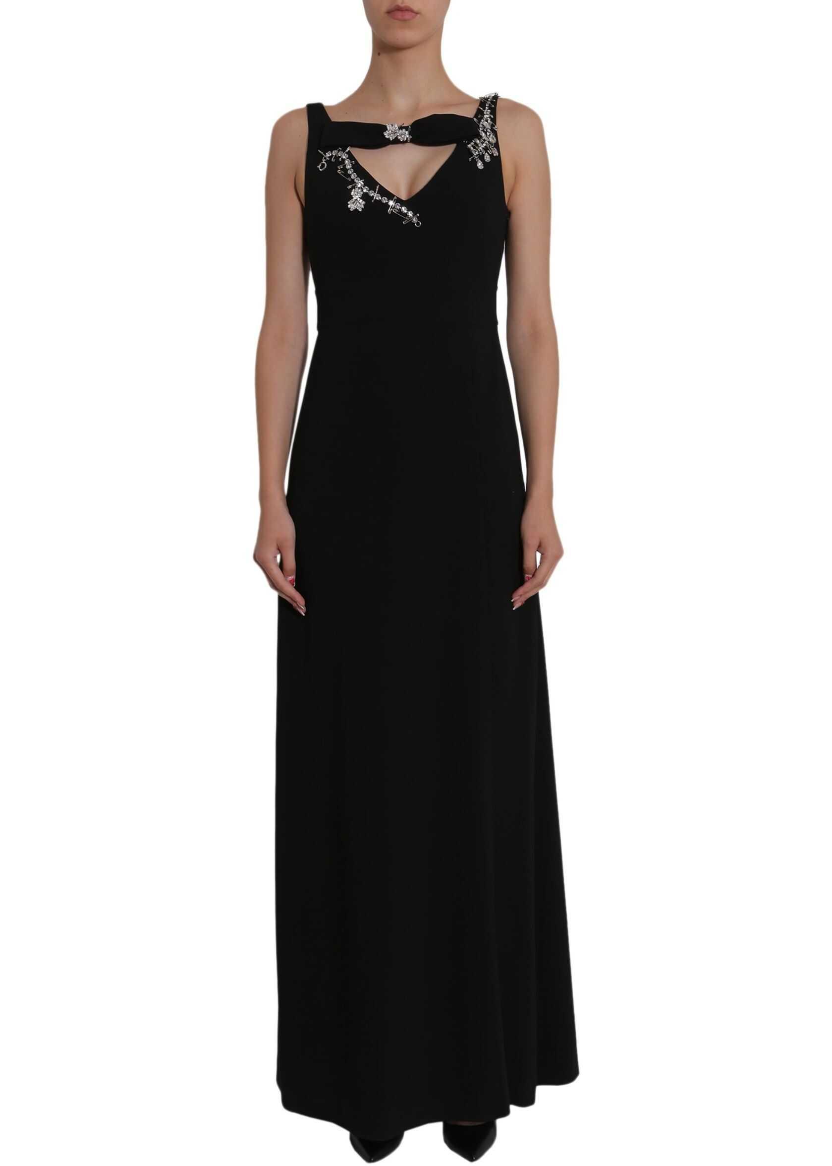 LOVE Moschino Embellished Dress BLACK