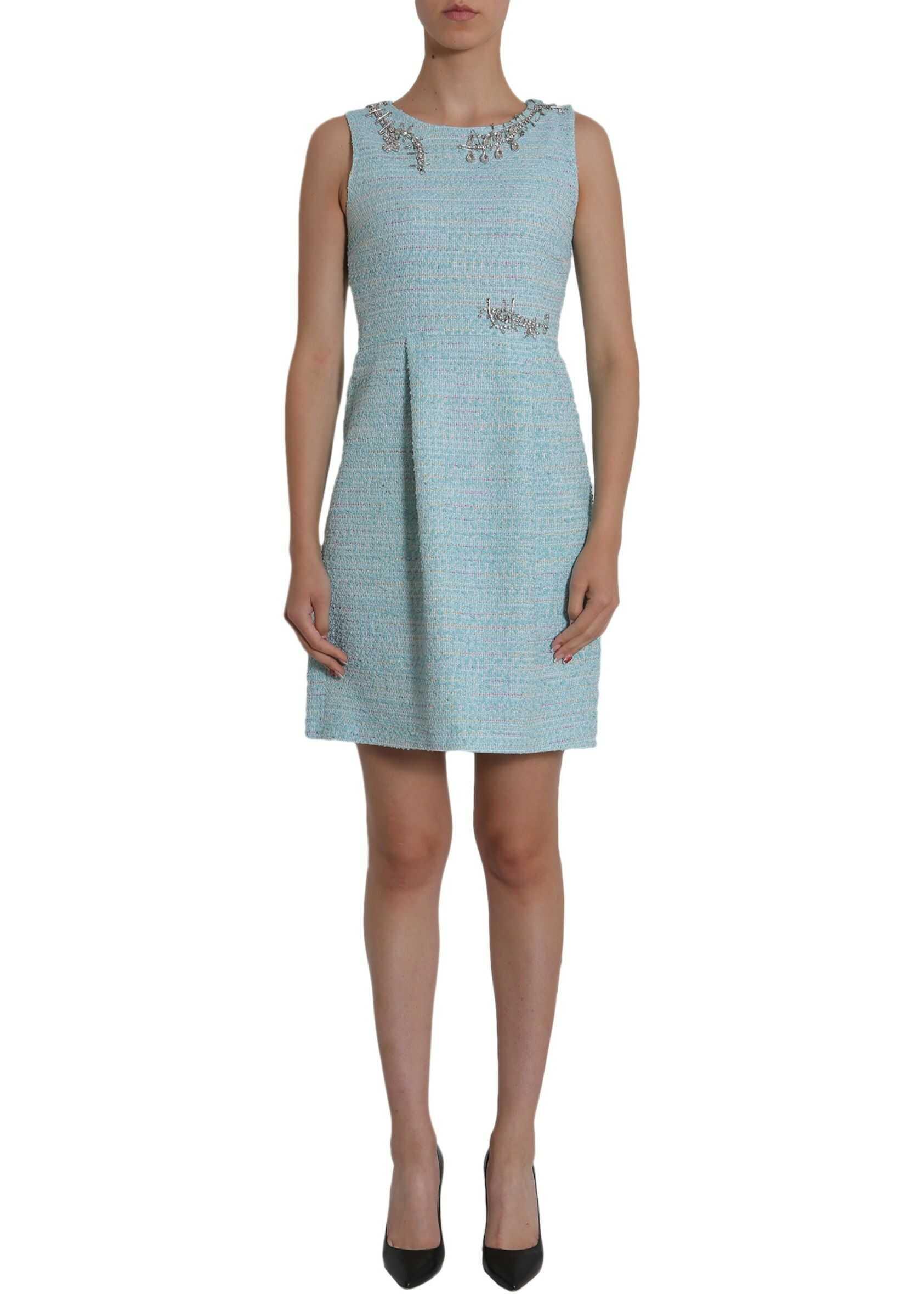 LOVE Moschino Tweed Dress AZURE