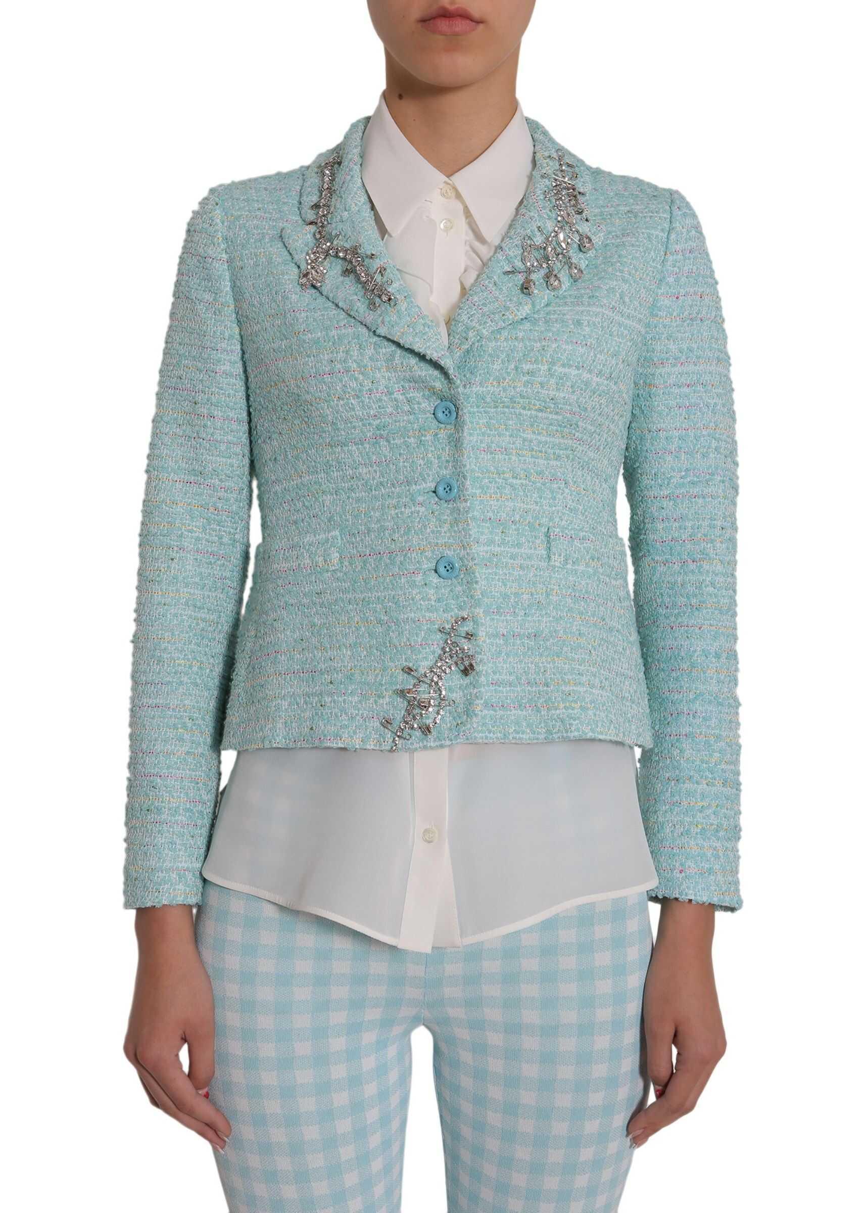 LOVE Moschino Tweed Jacket AZURE