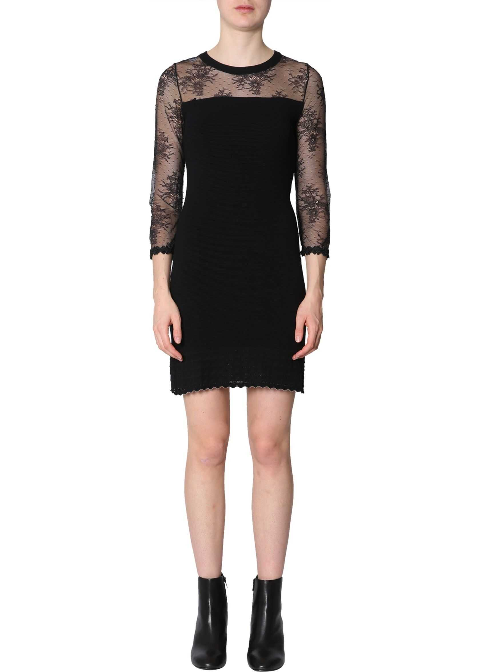 LOVE Moschino Dress With Lace Insert BLACK