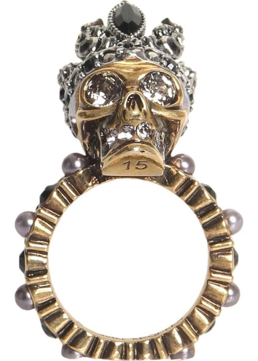 Alexander McQueen Skull Ring MULTICOLOUR