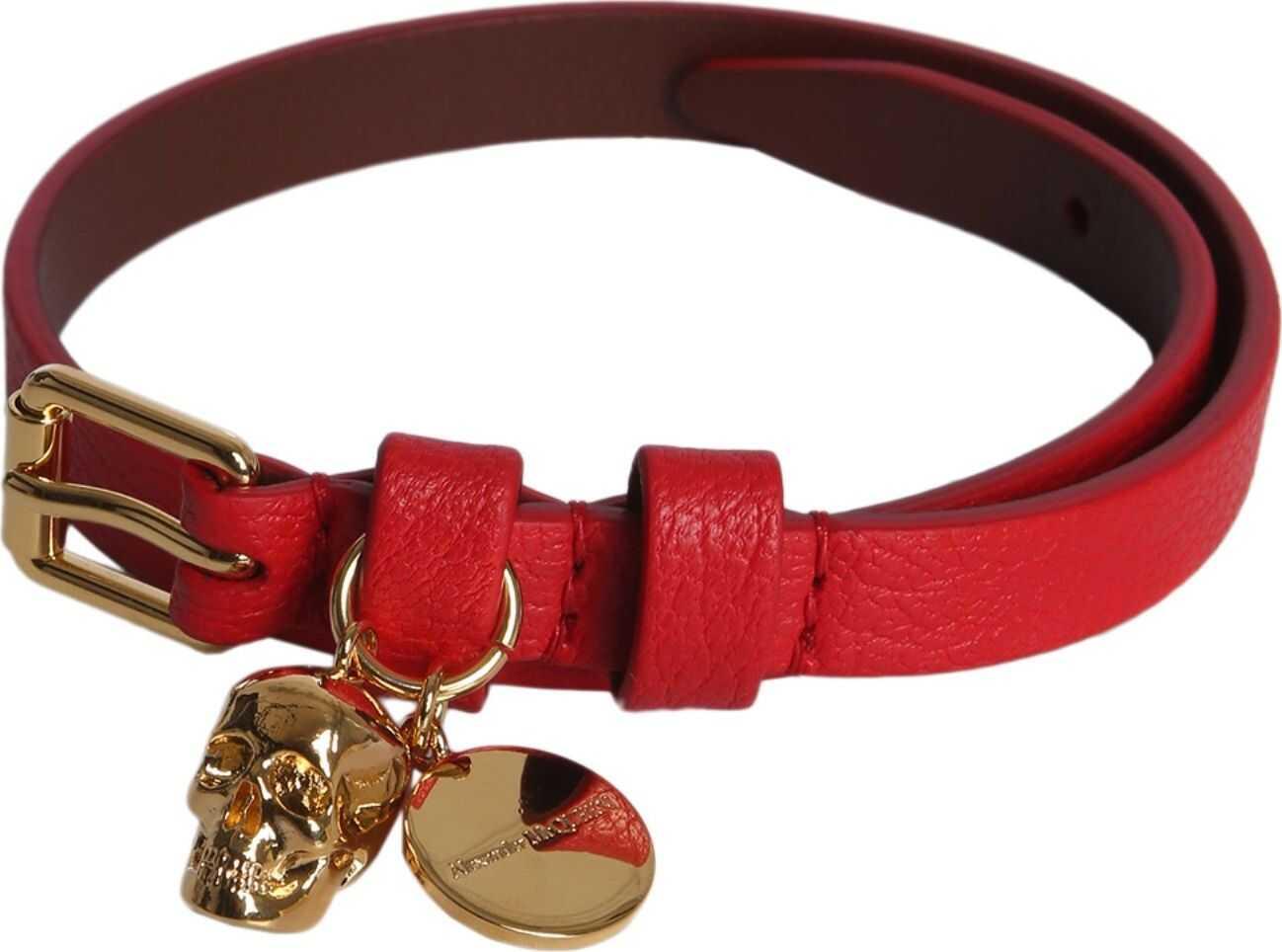 Alexander McQueen Skull Bracelet RED
