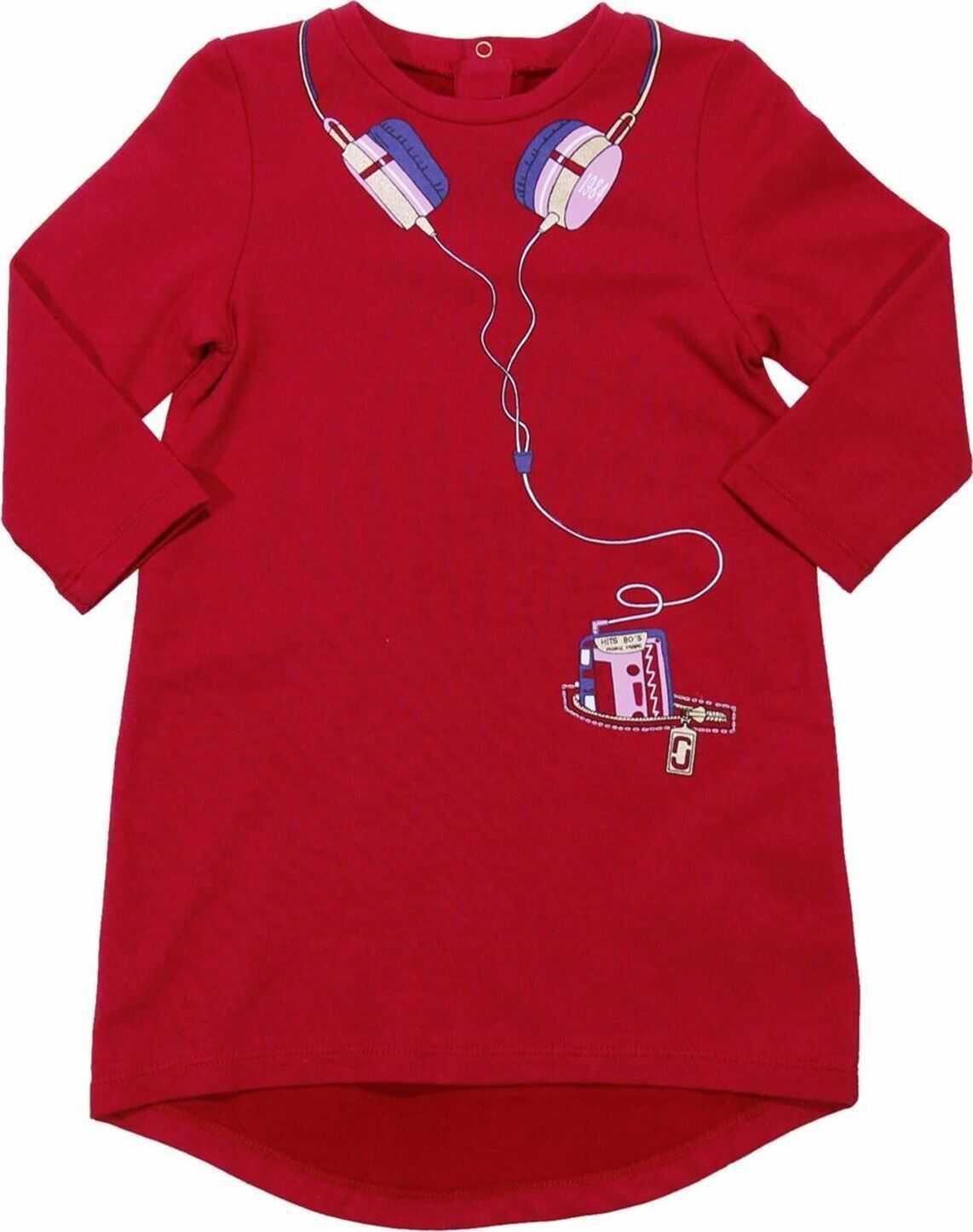Little Marc Jacobs Red Trompe-L'oeil Dress* Red