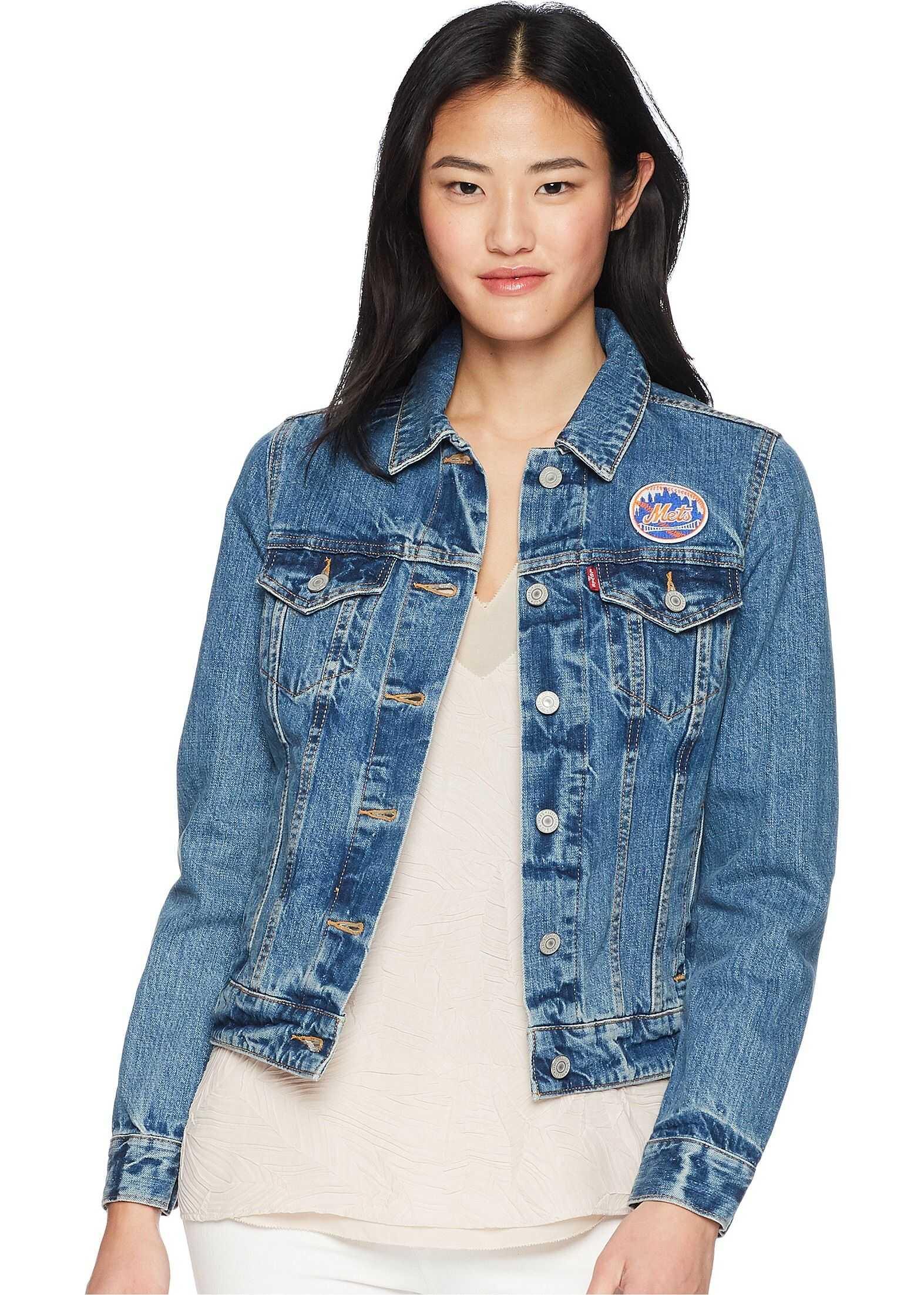 Levi`s® NY Mets Denim Trucker Jacket Natural