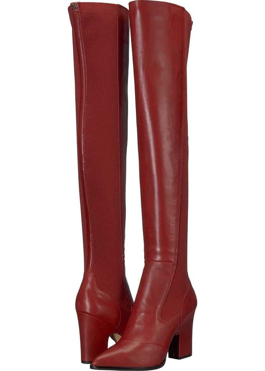 Sam Edelman Natasha Tango Red Modena Calf Leather