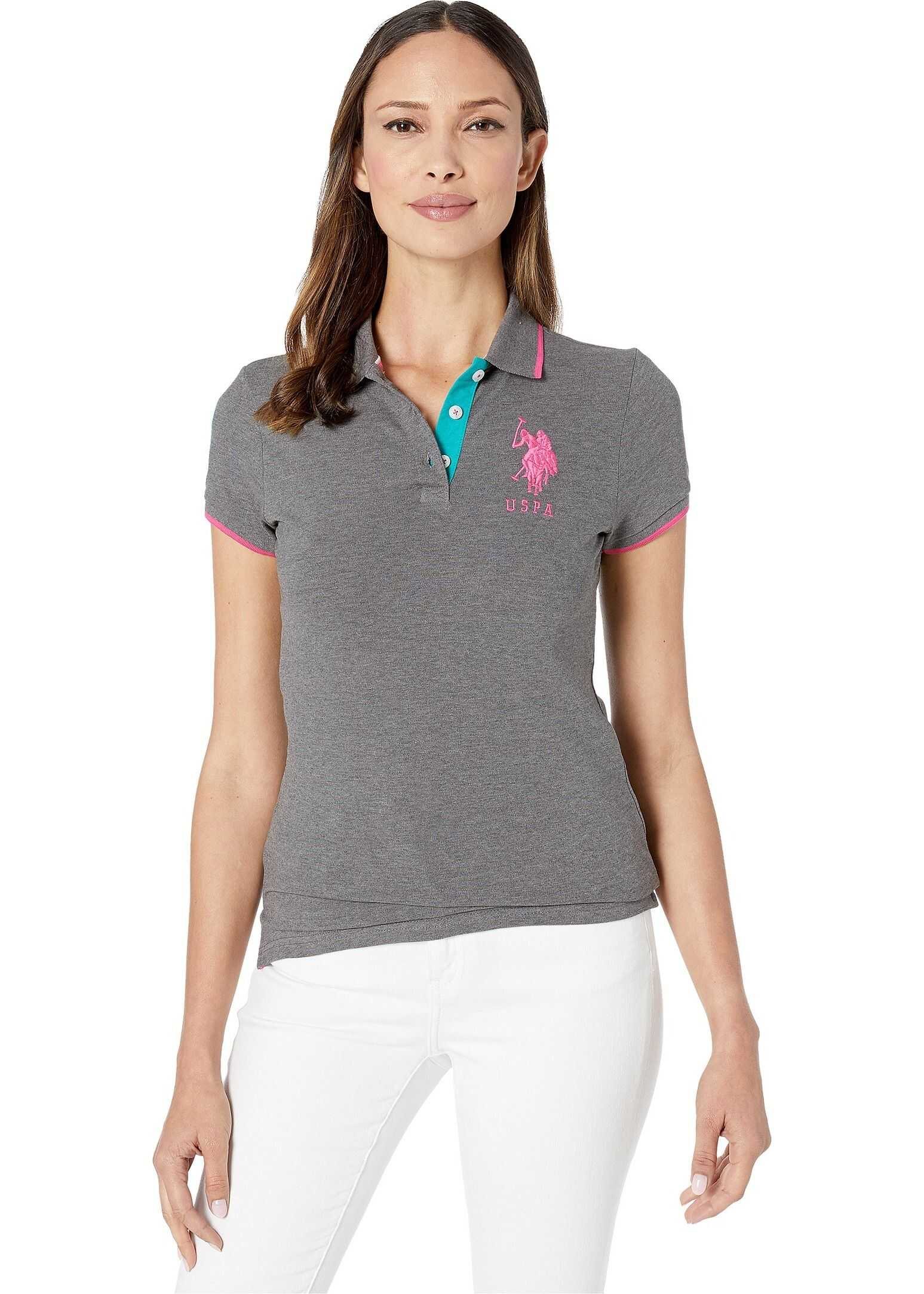 U.S. POLO ASSN. Triple Crown Polo Dark Heather Grey