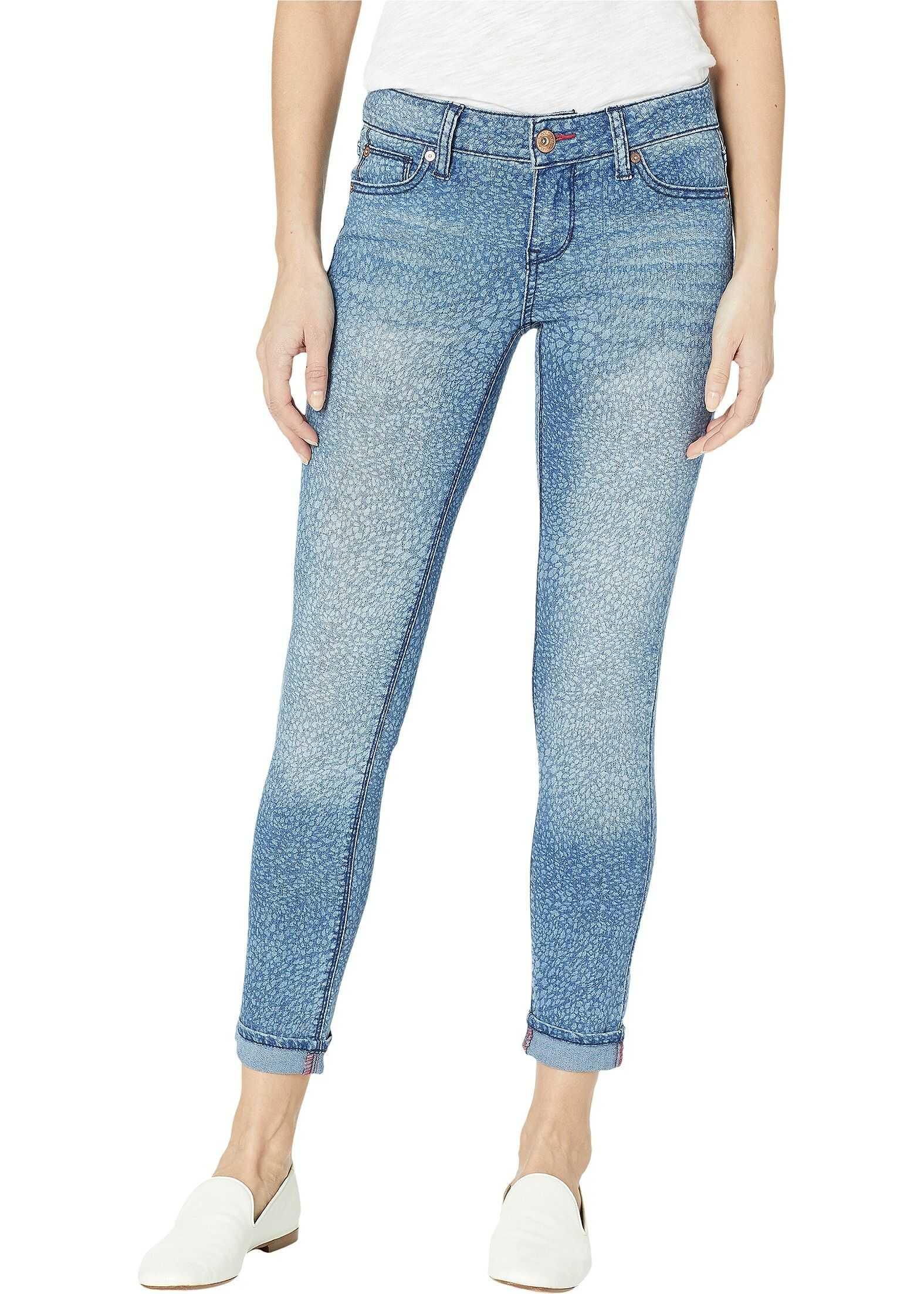 U.S. POLO ASSN. Zoe Skinny Ankle Pants in Blue Print Blue Print