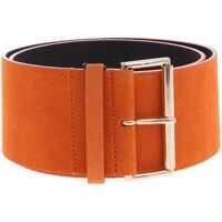 Curele Belt In Orange Suede Leather Femei