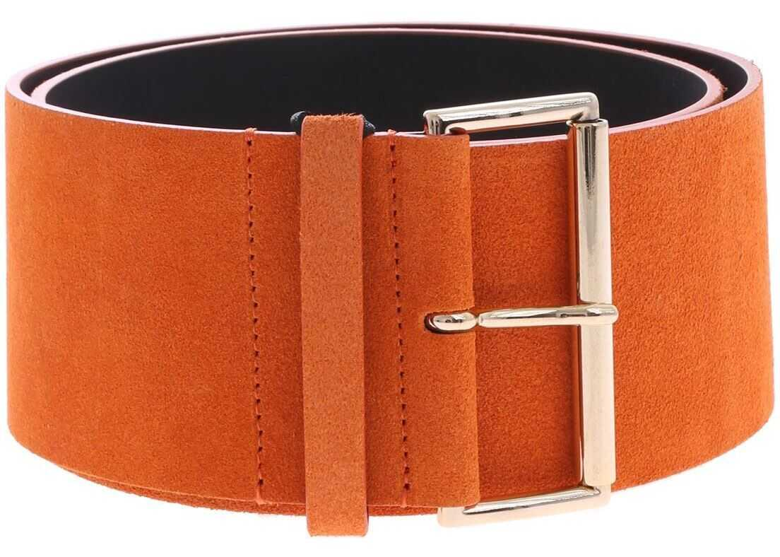 Blugirl Belt In Orange Suede Leather Orange
