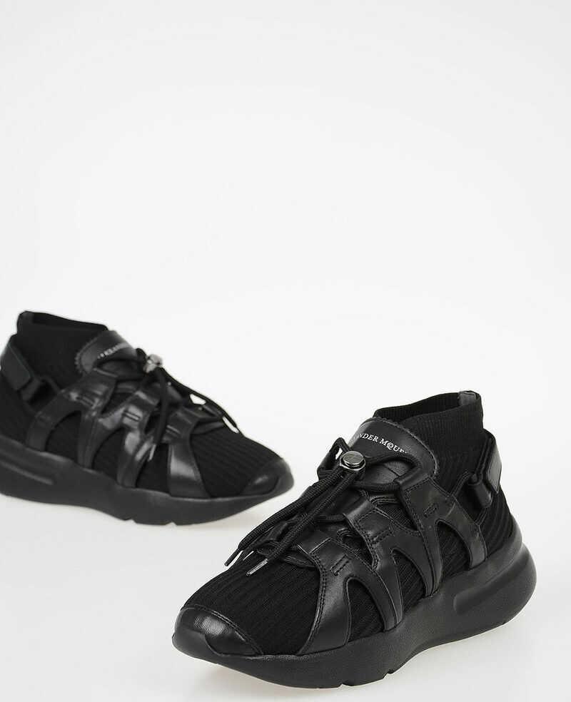 Alexander McQueen Leather Fabric SOCKS Sneakers N/A