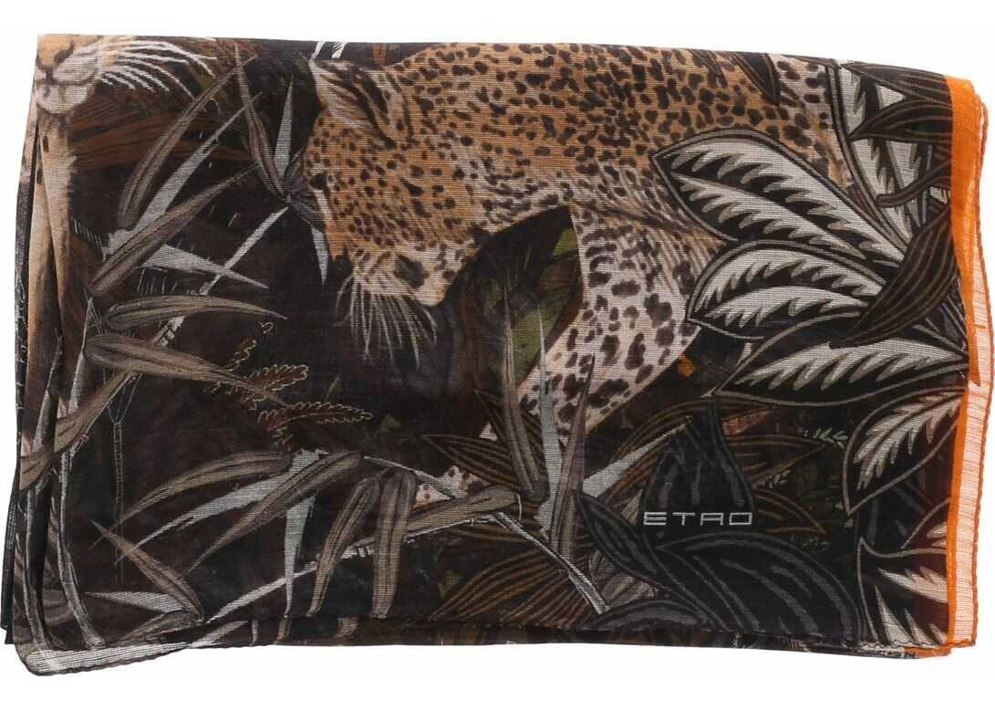ETRO Etro Scarf With Jungle Print Multi