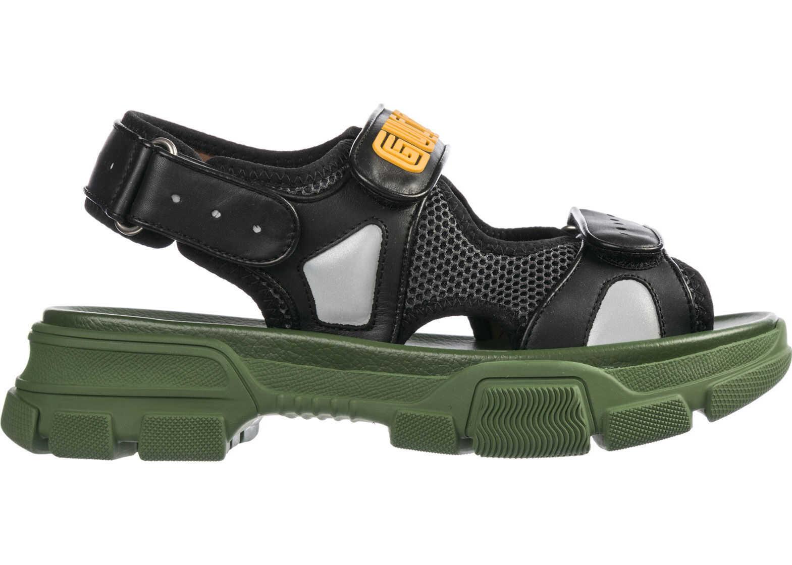 Gucci Leather Sandals Black