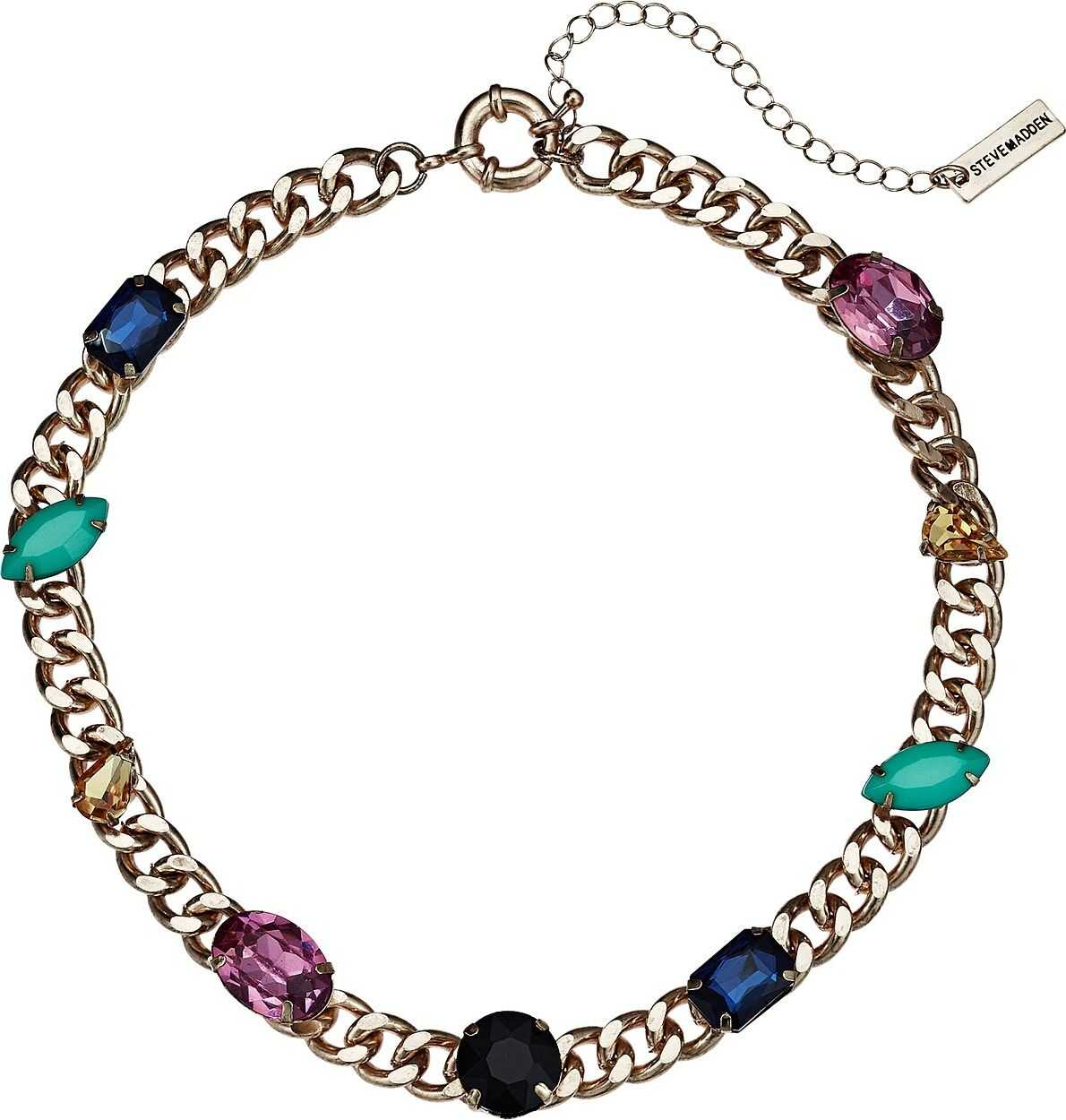 Steve Madden Jewel Design Collar Necklace Multicolor/Yellow Gold-Tone