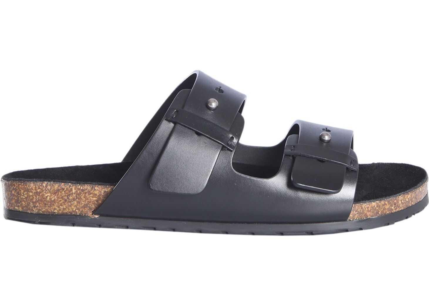Saint Laurent Jimmy Sandals BLACK