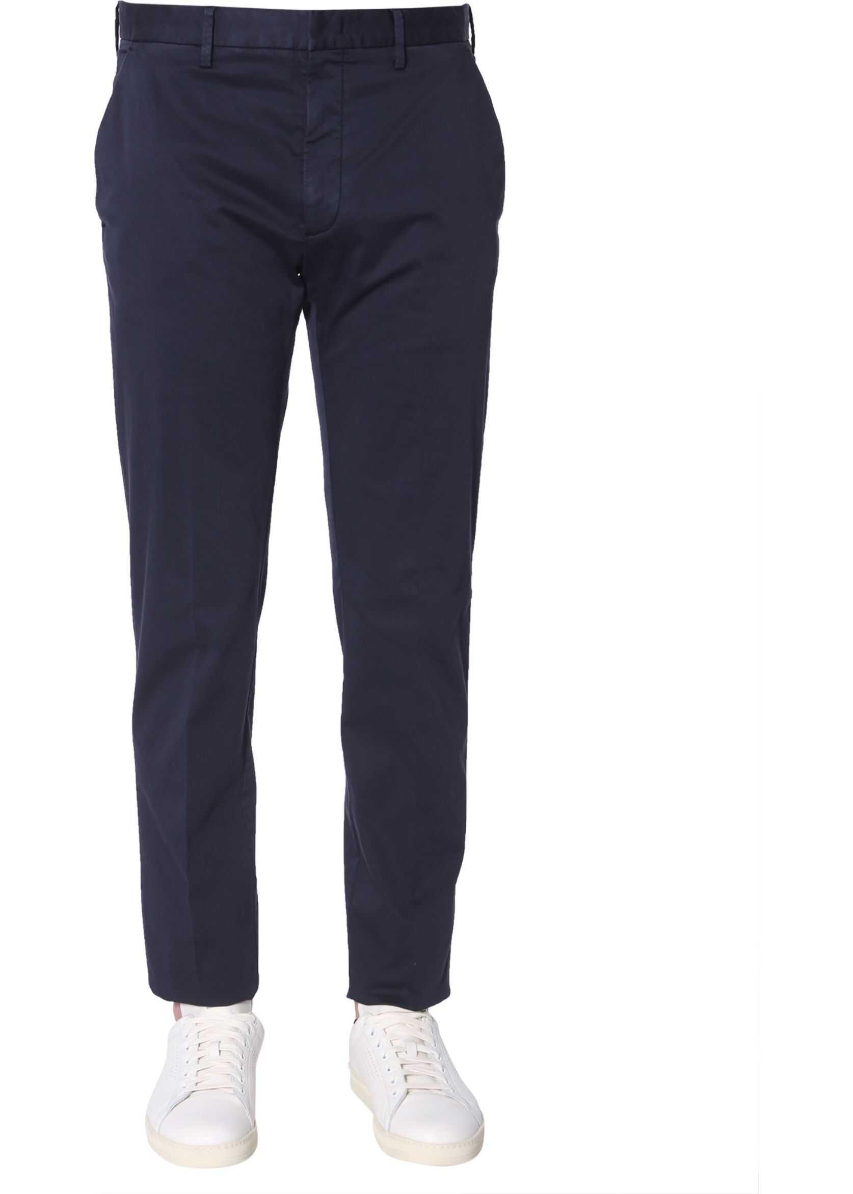Z Zegna Slim Fit Trousers BLUE