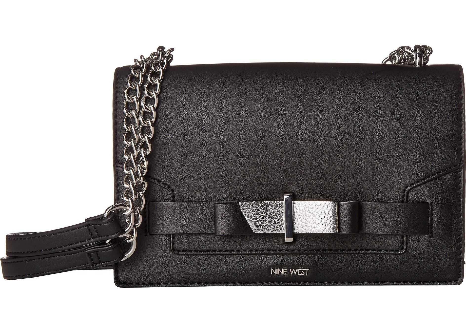 Nine West Paisley Convertible Shoulder Bag Black Multi