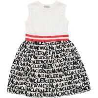 Rochii casual Moncler Printed Cream Sleeveless Dress Fete