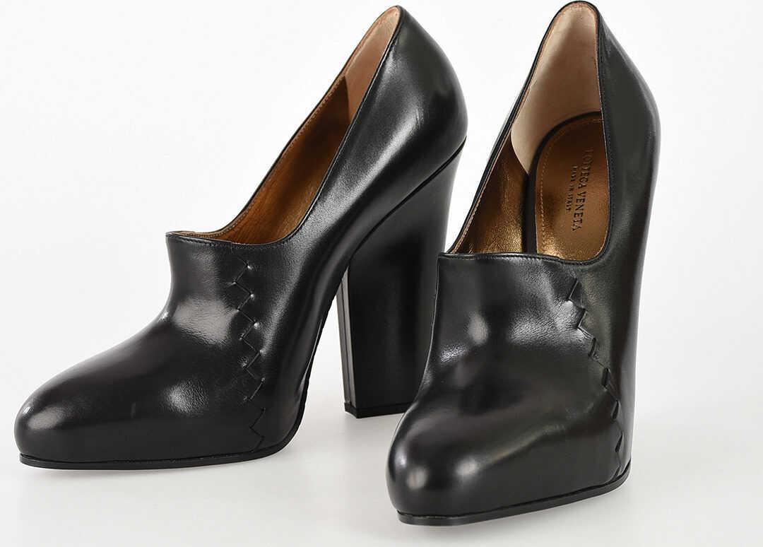 Bottega Veneta 12.5 cm Leather Pumps BLACK