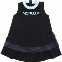 Rochii Moncler Blue Dress With Ruffle On The Bottom Fete