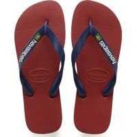 Slapi Brasil Logo Unisex Flip Flops In Red Barbati